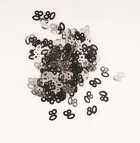 Black Glitz Table Confetti - Age 80